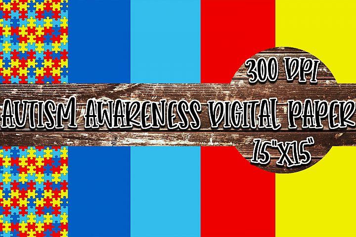 Autism Awareness Digital Paper