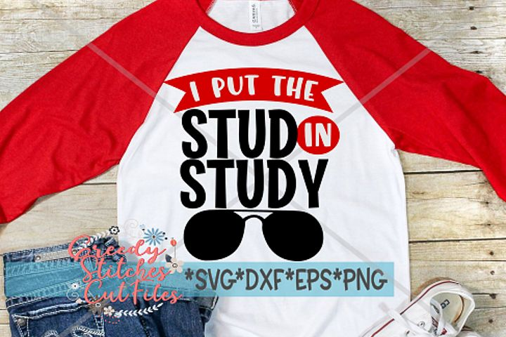 I Put The Stud In Study SVG, DXF, EPS, PNG | School SVG