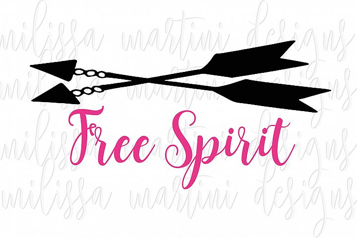 Free Spirit SVG Cut File example
