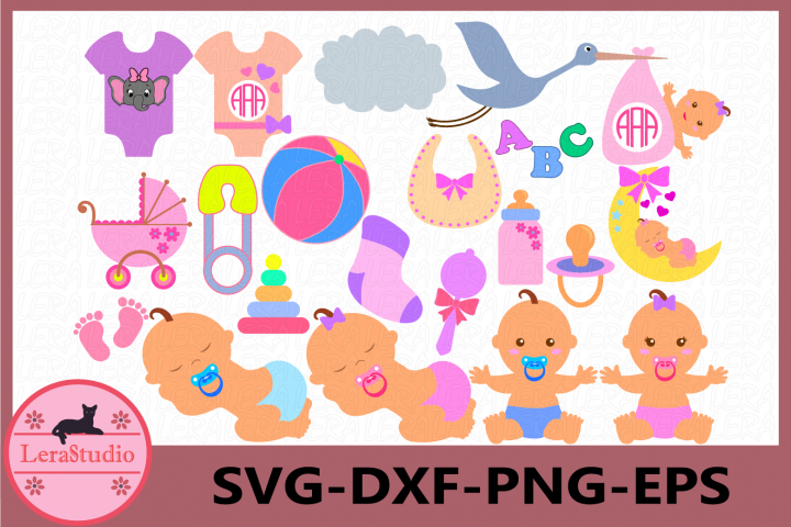Baby SVG, Baby Clipart, Baby Boy, Baby Girl, Newborn,Outfits