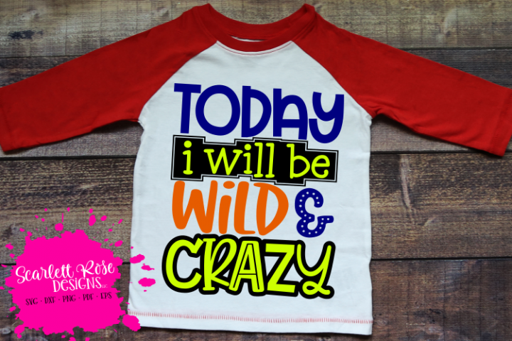 Today I Will Be Wild and Crazy SVG