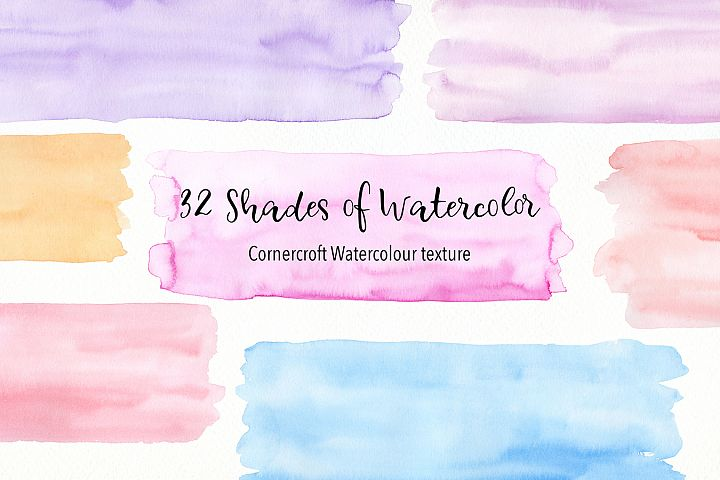 32 shades of watercolor texture