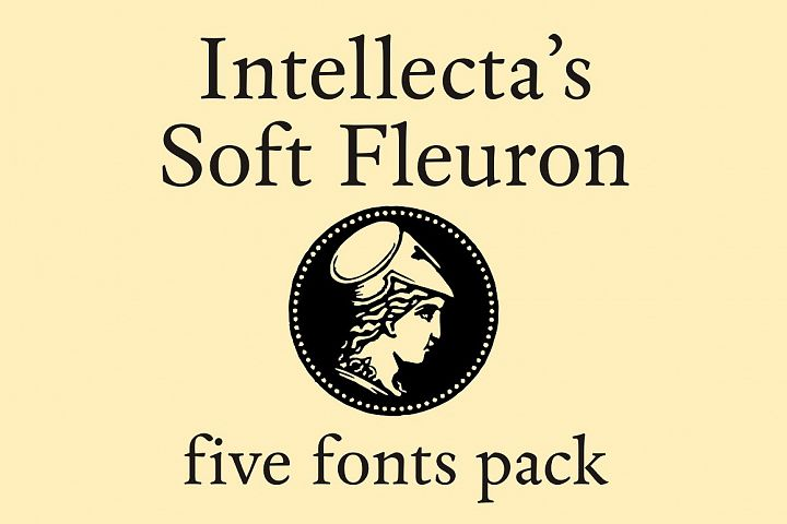 Soft Fleurons Pack - five fonts