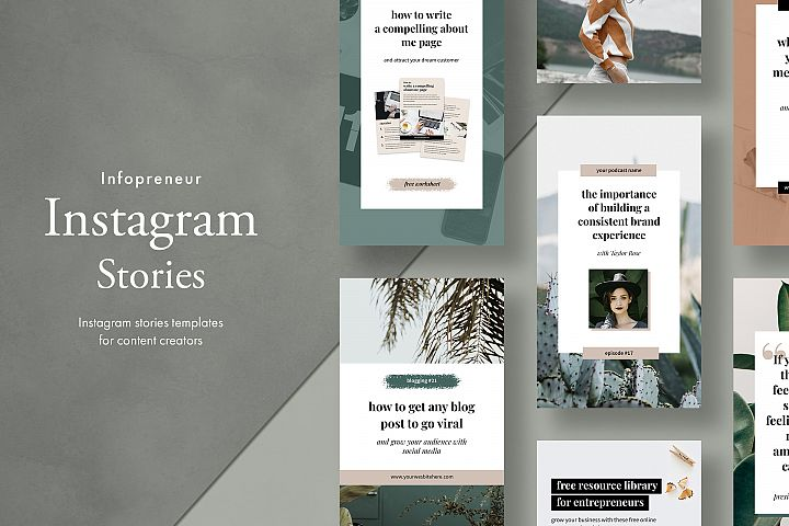 Instagram stories pack for bloggers