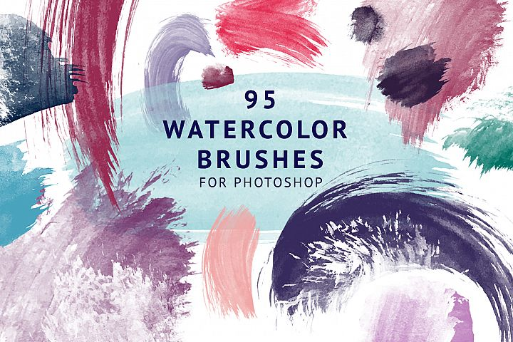 95 Watercolor brushes for PS