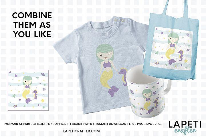 Mermaid clipart, little mermaid vector download, mermaid svg