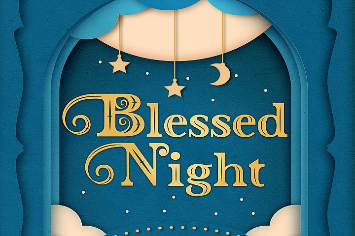 Blessed Night - 3 Christmas Font