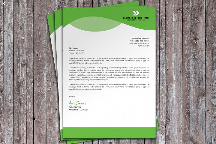 Letter Head Template