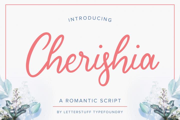 Cherishia Romantic Script