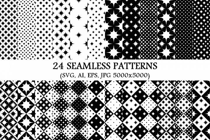 24 Seamless Star Patterns