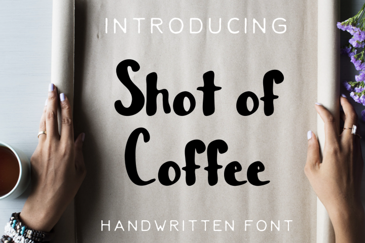 Shot of Coffee Bold and Thick Handwritten Font