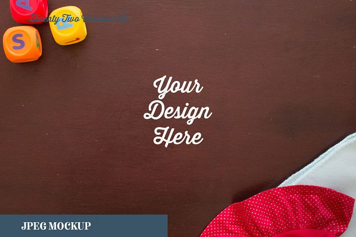Baby Toys Red Dress Mockup
