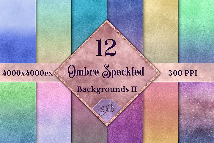 Ombre Speckled Backgrounds Vol 2 - 12 Image Textures Set