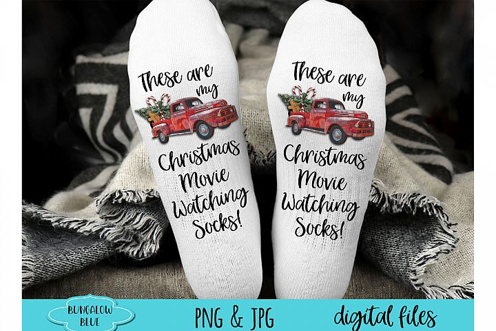 These Are My Christmas Movie Watching Socks Digital Download