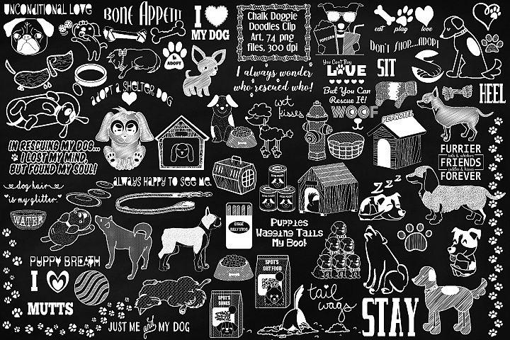 Doggie Doodles Chalk Clip Art, Dog Adoption, Food, Vet Logo