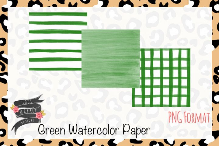 Green Watercolor Paper