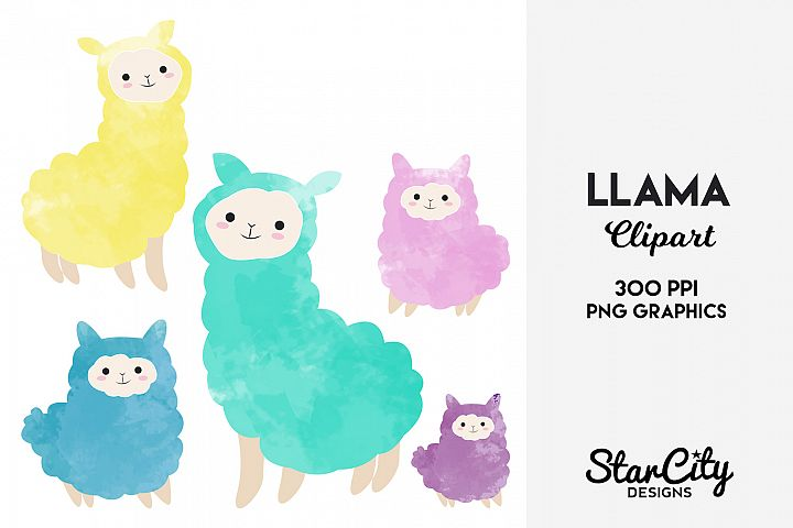 Llama Clipart for Commercial Use