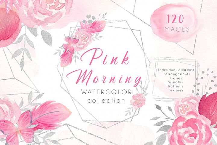Watercolor Set Pink Morning