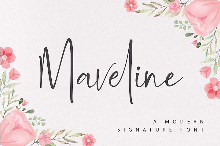 Maveline - A Modern Signature Font