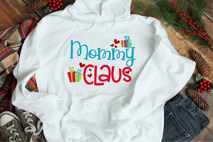Christmas SVG, Mommy Claus, Santa Claus Sublimation