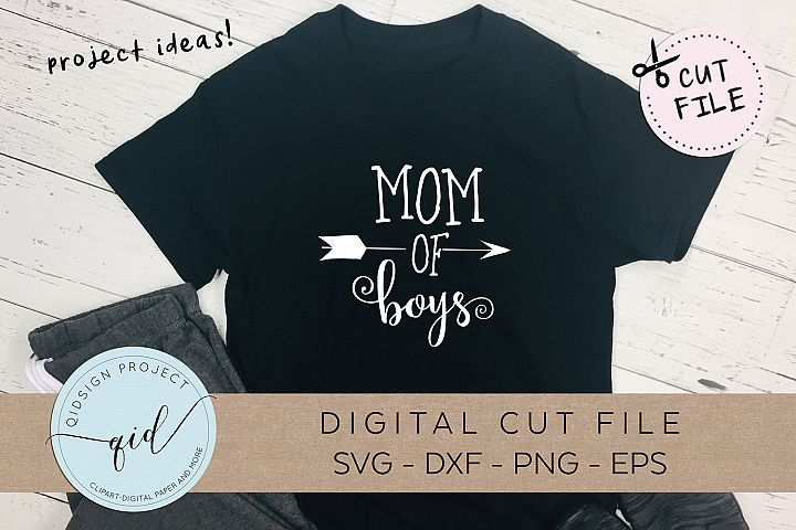 Mom of Boys SVG DXF PNG EPS