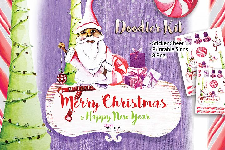 Merry Christmas & Happy New Year Doodler Kit