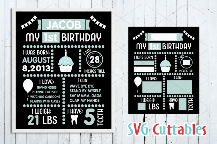 Birthday Board | SVG Cut File