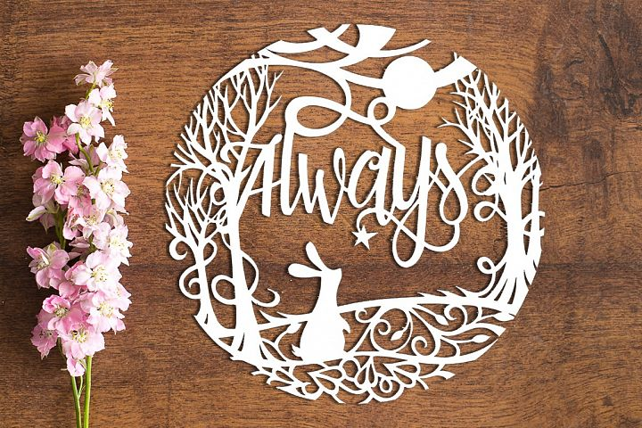 Always - Paper Cutting Template