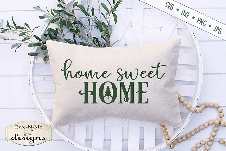 Home Sweet Home - Christmas Tree - SVG DXF File