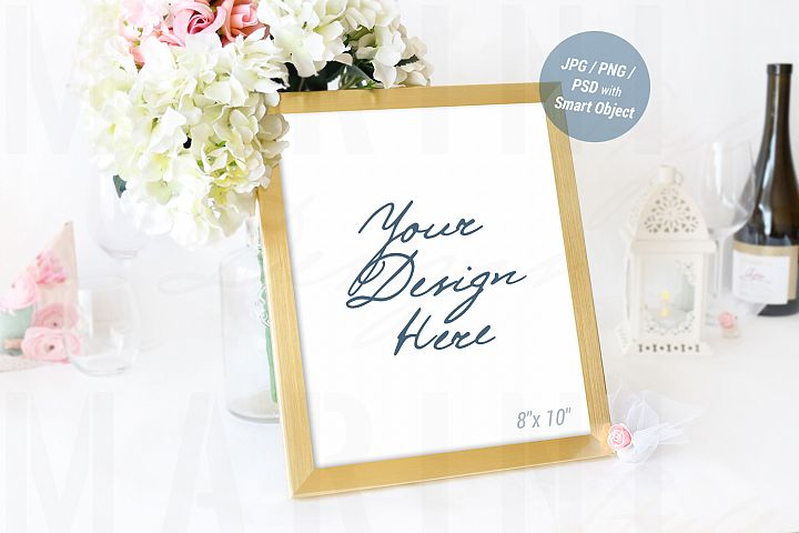 Wedding Frame mockup, Sign Mockup, Table Number Mockup, 937
