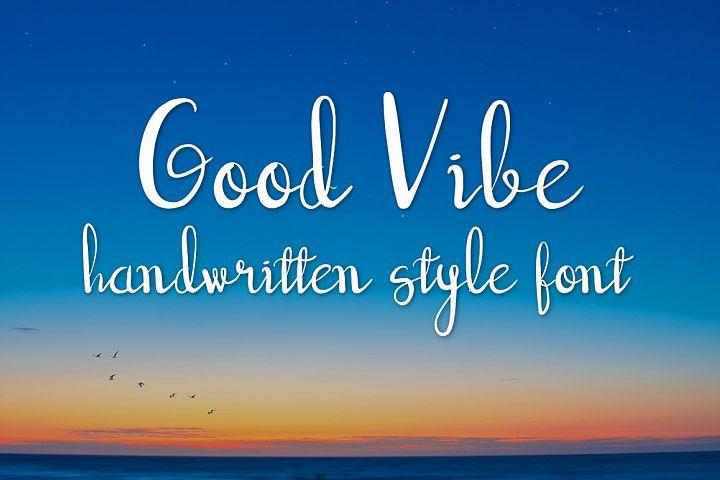 good vibe handwritten script font