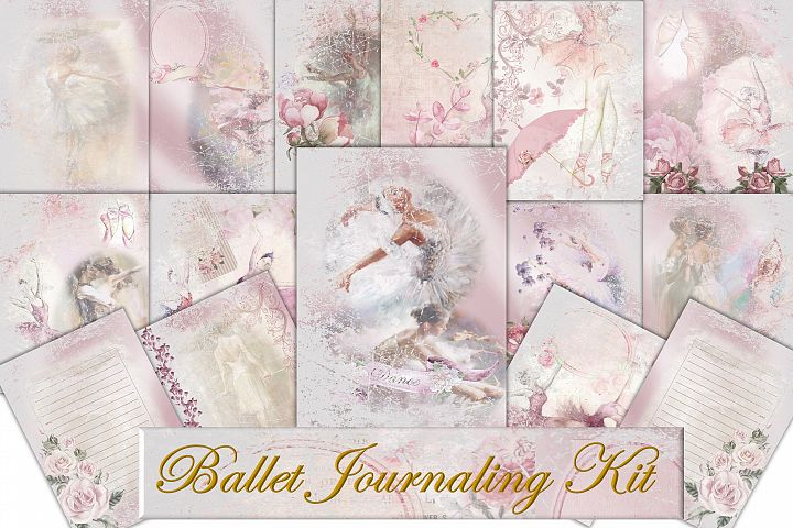 Ballet Journaling or scrapbook pages Commercial Use