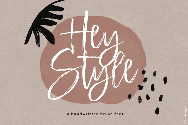 Hey Style - A Handwritten Brush Font