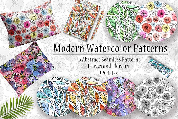 Abstracts Watercolor Patterns