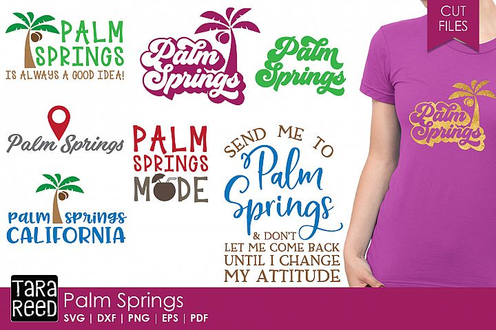 Palm Springs SVG and Cut Files for Crafters