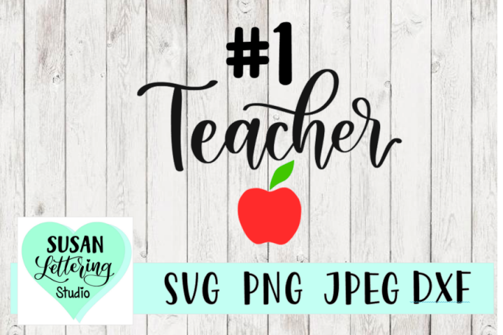 #1 Teacher SVG, Best Teacher SVG, PNG, JPEG, DXF