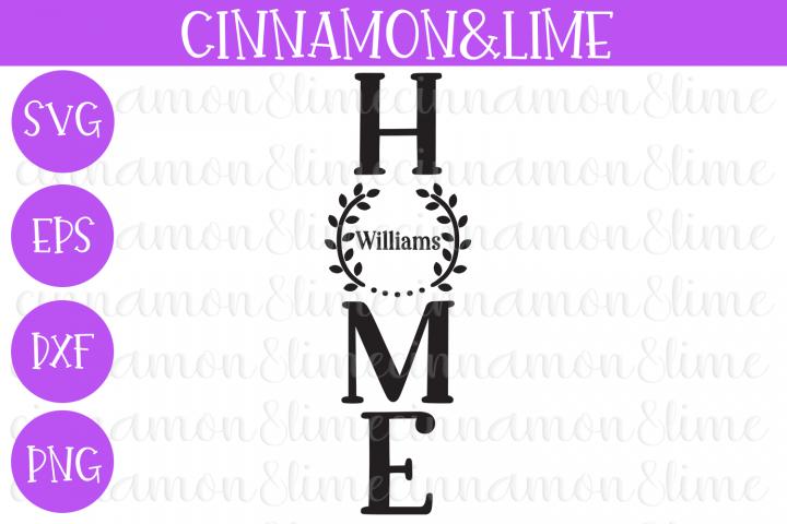 Home Vintage Wood Sign SVG Cut File