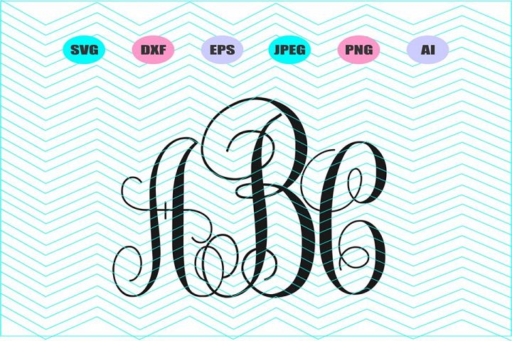 Vine Monogram Font Svg Vector File Cricut Design Vinyl Decal
