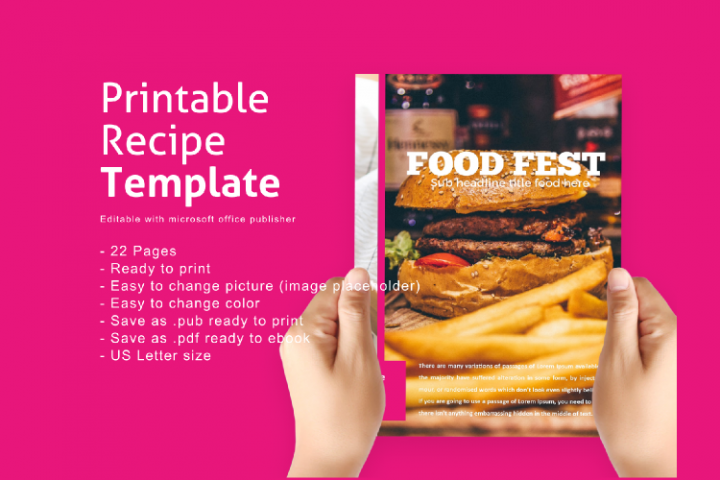Recipe eBook Template Easy Editable Using Ms Publisher