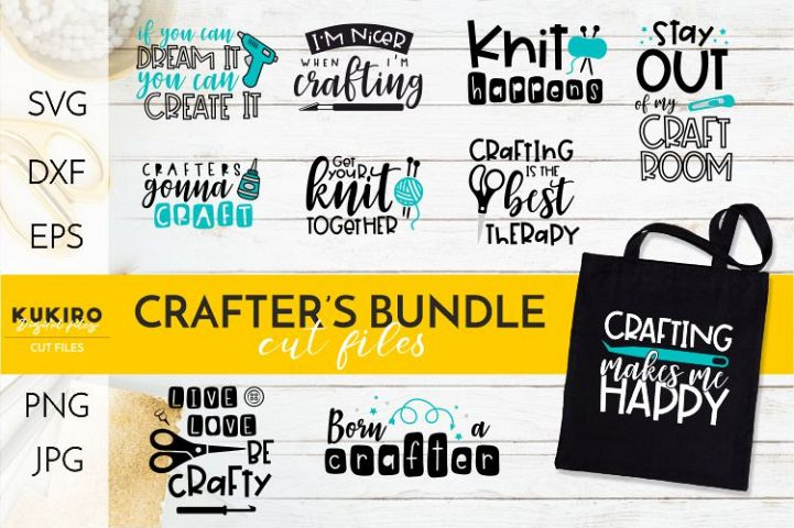Crafters life BUNDLE - Funny crafting quotes