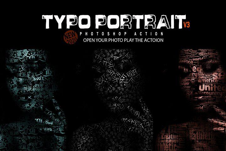 Typo Portrait V3 Photoshop Action