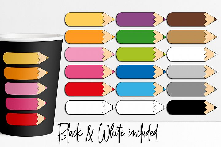 Color pencils graphic illustrations