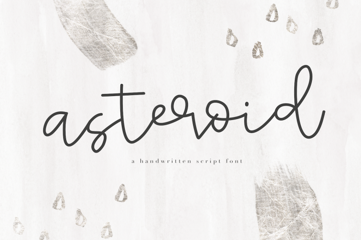 Asteroid - Handwritten Script Font