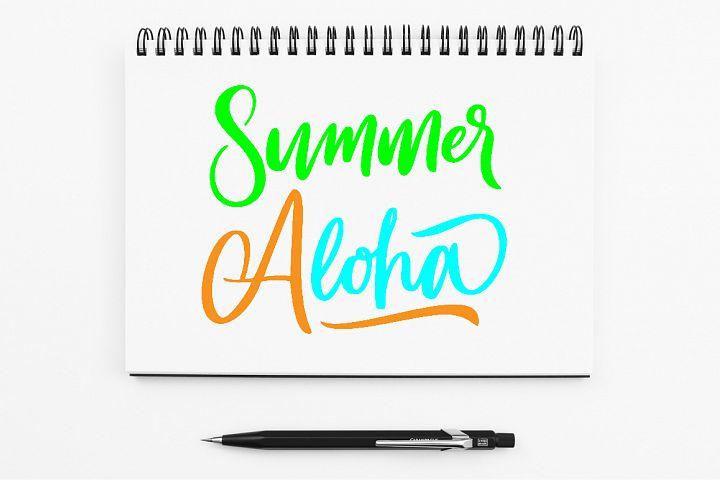 SVG - Summer Aloha Handlettering