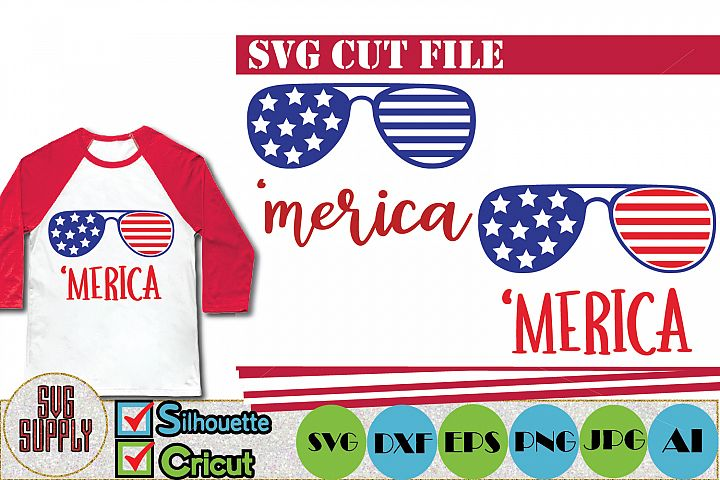 Merica SVG, Patriotic SVG Cut File