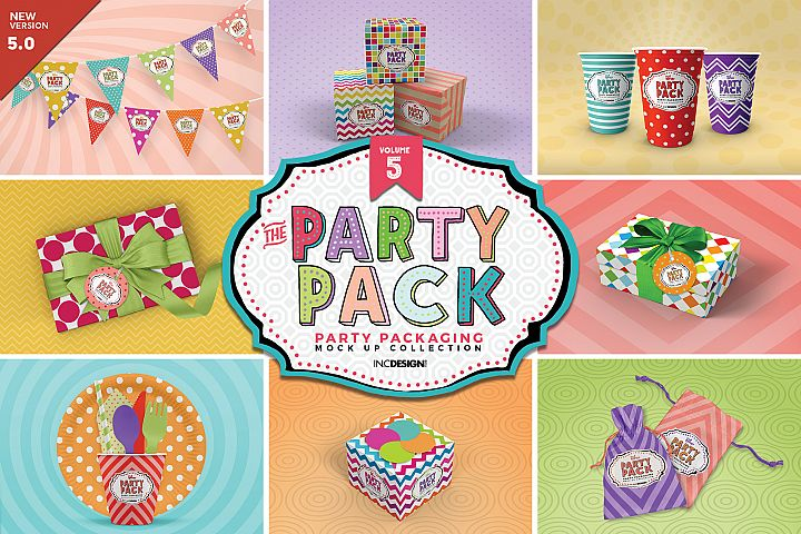 The Party Pack Mockup Collection VOLUME 5