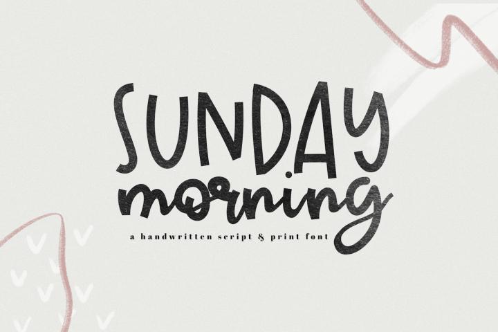 Sunday Morning - A Handwritten Script Font