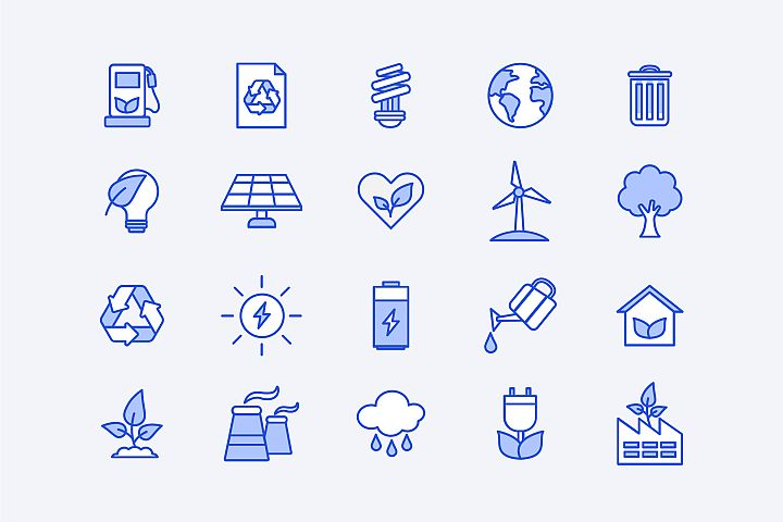 Blue Energy Icons