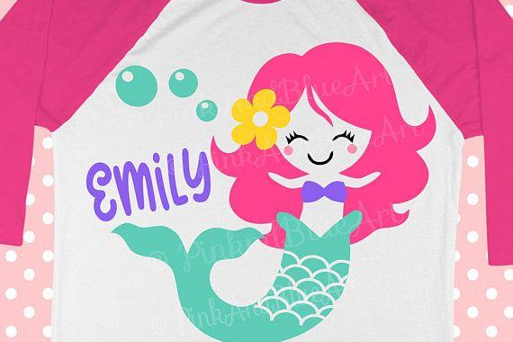 Mermaid SVG - Birthday Svg - SVG mermaid - Summer design - Girl svg