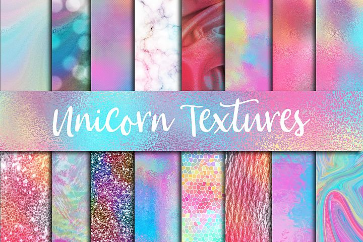 Unicorn Textures Digital Paper